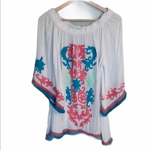 PERFECTLY PRISCILLA EMBROIDERED BLOUSE 3X